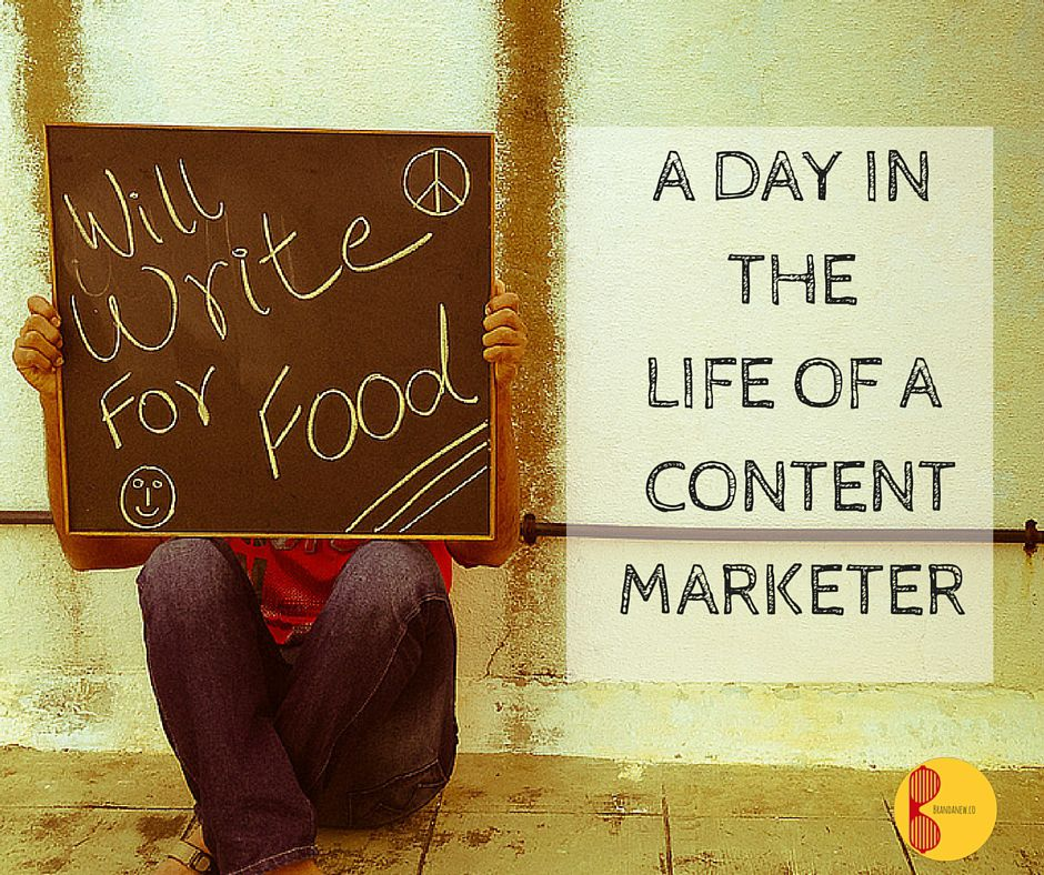 Chaos Alert A day in the Life of a Content Marketer Brandanew
