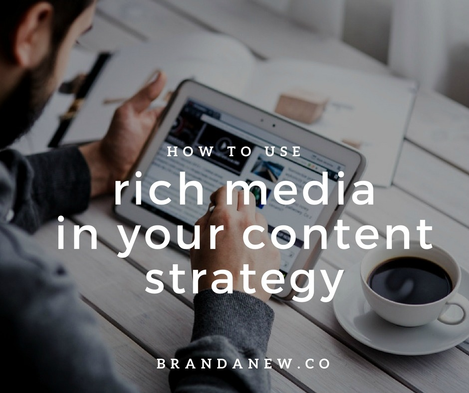 How to Use Rich Media In Your Content Marketing Strategy