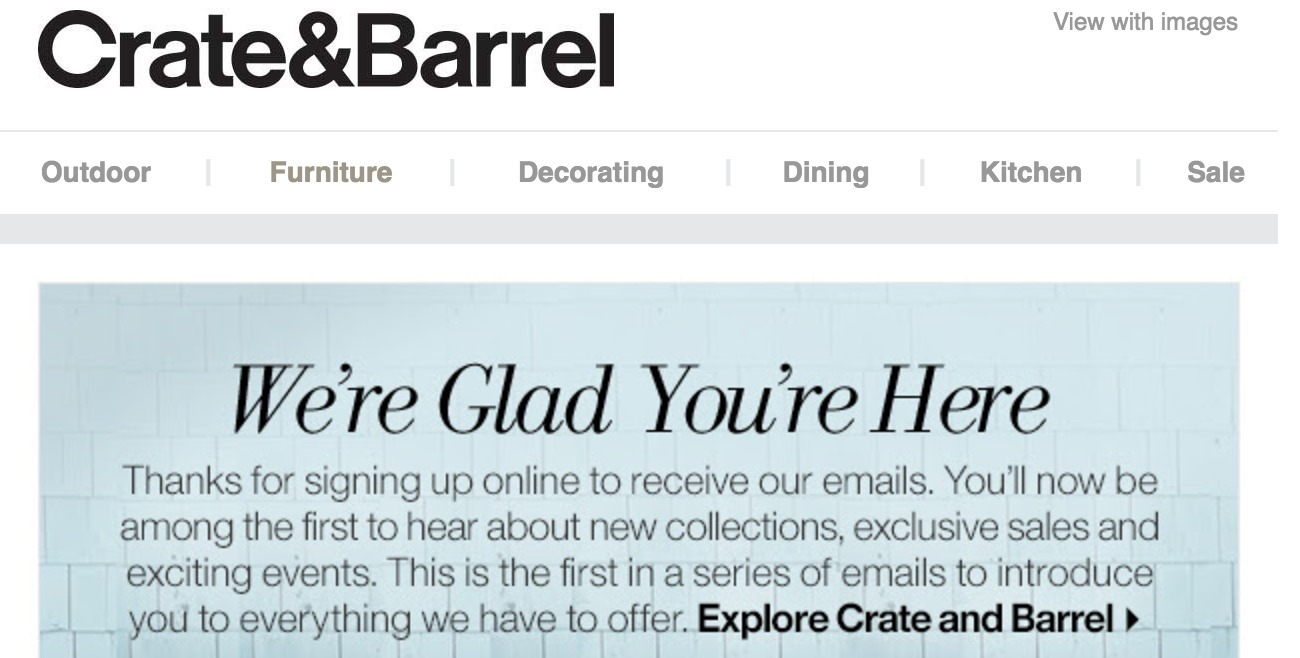 Crate and barrel coupon code 2018