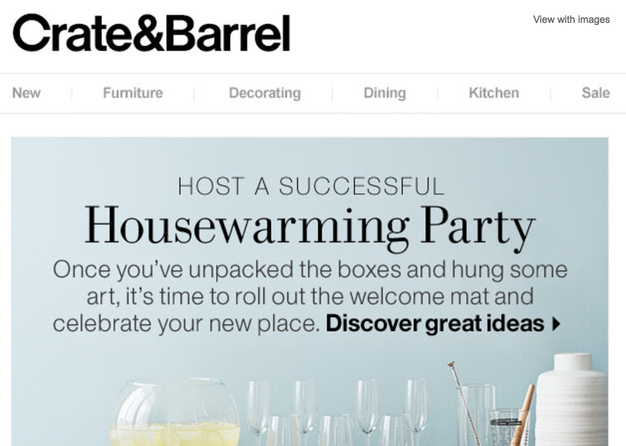 Weekly Brand Inspiration: Crate & Barrel Email Journeys